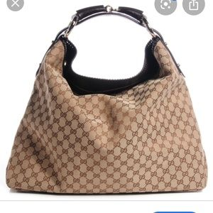 Authentic Gucci large horsebit bag hobo